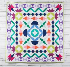 Boundless Solids Maiden Medallion by Amy Gibson Quilt Kit: