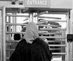 Checkpoint - Jerusalem, West Bank (Palestine).          They treat us like weare animals