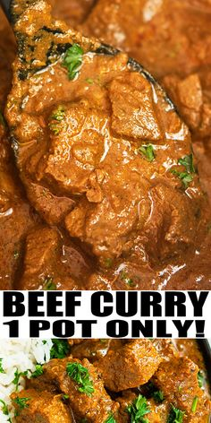 Indian Beef Curry Recipe-Quick And Easy Curry, Homemade With Simple Ingredients In Instant Pot In 30 Minutes. Stuffed With Rich Indian Spices. Not very Spicy. Otherwise called Indian Korma Or Beef Korma. Easy Beef Curry Recipe, Beef Recipe Instant Pot, Instant Pot Dinner Recipes, Indian Beef Stew Recipe, Simple Beef Curry, Curry Dishes, Beef Dishes, Korma Curry Recipes, Foodies