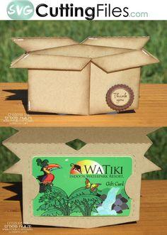 Moving Box Shaped Card