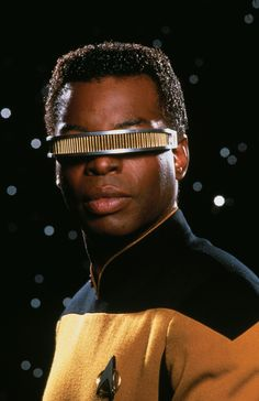 LeVar Burton as Geordi La Forge.