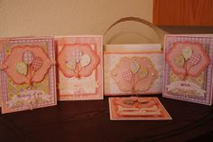 "Bookoo Blessings: ""Elegant Edges"" balloon boxed gift card set #5"