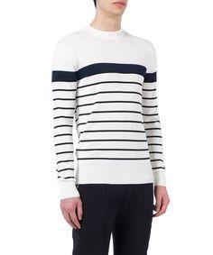 NEIL BARRETT Neil Barrett Men'S  White/Black Wool Sweater'. #neilbarrett #cloth #sweaters