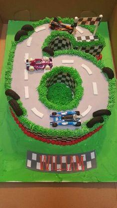 6th Birthday Cakes Cars Parties Hotwheels Cake Boy Nascar