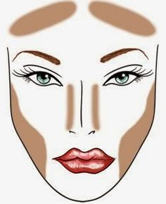 C-FABulous Makeup: How to Contour, Highlight and Apply blush. Instructions line … - Makeup Contour Rosacea Makeup, Best Makeup For Rosacea, Face Contouring, Contour Makeup, Contouring And Highlighting, Skin Makeup, Contouring Guide, How To Blend Contouring, Foundation Contouring