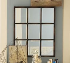 Barn Window to Antique Mirror