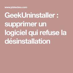GeekUninstaller : supprimer un logiciel qui refuse la désinstallation Internet, Microsoft, Geek Stuff, Iphone, Windows 10, Orange, Google, Tips And Tricks, Office Automation