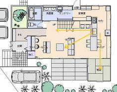 家事動線が良く、坪庭が眺められる間取り | はじめての家づくり、失敗しない家づくりのためのブログ「いえなび。」