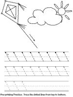pre printing practice worksheet diagonal lines plus other trace printout