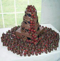 Choc strawberry cake