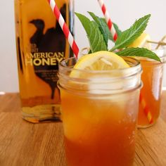 Make some of this Spiked Mango Passionfruit Sweet Tea, and make any #Summer day a little sweeter. Link in bio. #AmericanHoney