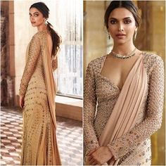 Here are pictures of Deepika Padukone from a recent photoshoot for an ad campaign. She looks resplendent! - We bet your jaws will drop after seeing these 5 gorgeous pics of Deepika Padukone! Red Lehenga, Lehenga Choli, Sabyasachi, Indian Attire, Indian Ethnic Wear, Indian Style, Pakistani Outfits, Indian Outfits, Indian Clothes
