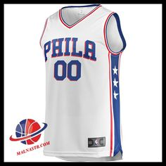 36d3b7e2f flocage Maillot Du NBA Basket Homme Philadelphia 76ers Fanatics Branded  Fast Break Custom Replica White vente