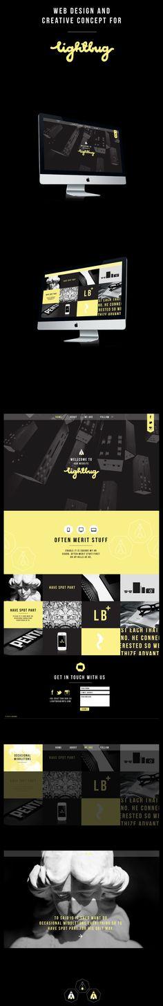 Lightbug Web Design by Xhansel Xhabiri, via Behance, web, design, digital, website