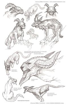 Just a mash up of some pencil and digital sketches from a few years back - I'm working on a tutorial to explain my sketching process at the moment.