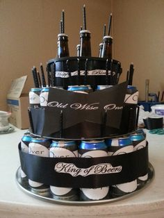50th birthday beer cake but I want a wine cake