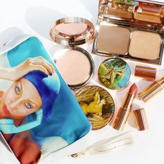 We Can't Get Enough of Charlotte Tilbury's New Summer Makeup Launches:  For her latest collection, makeup artist Charlotte Tilbury drew inspirationand more literally, packagingfrom the archives of famed fashion photographer Norman Parkinson.  | allure.com
