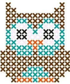 Owl perler bead pattern by shalaisjah.cason More