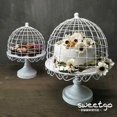 欧式高脚蛋糕盘 铁艺蛋糕架 甜品架创意蛋糕展示架【瑕疵品处理】