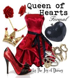 The Joy of Disney: Queen of Hearts (Alice in Wonderland) Disney Cute, Disney Prom, Disney Style, Disney Disney, Queen Of Hearts Alice, Lizzie Hearts, Disney Themed Outfits, Disney Dresses, Disney Clothes