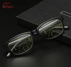 31bf98744dd SCOBER   Black classic vintage frame Intelligence Progressive Multifocal  Commercial Reading Glasses Bifocal add +