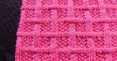 Square lattice pattern. The seed stitch creates an interesting texture that makes for a dense, warm fabric. Pattern is written, not charted.