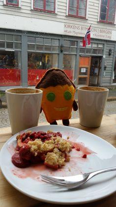 Tosiek na kawie i kruszonce w Bergen w Szwecji