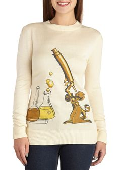 Science Rules! Sweater By Bea & Dot| Mod Retro Vintage Sweaters | ModCloth.com