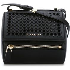 Givenchy Mini Pandora Box Shoulder Bag ($1,554) ❤ liked on Polyvore featuring bags, handbags, shoulder bags, black, mini handbags, studded shoulder bag, givenchy handbags, givenchy purse and mini purses