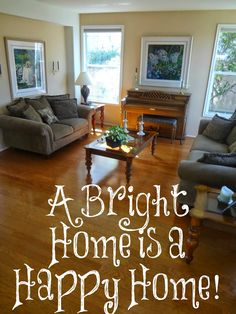 Is your home a bright and happy home or a dark and sad one? Here is some encouragement for creating a bright, happy home!