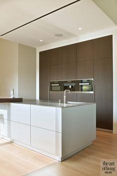 Modern Kitchen Design, Interior Design Kitchen, House Makeovers, Bright Kitchens, Apartment Interior Design, Internal Doors, Kitchen Organization, New Kitchen, Interior Architecture