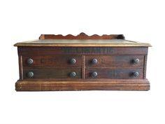Rare Antique Spool Cabinet Counter Top Desk Wood by HarpersFlea