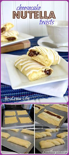cheese cake nutella twists nutella recipe recipes snacks desert