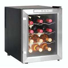 Keep your wine chilled and ready to drink with this wine cooler from Newair Appliances. Featuring three removable shelves that make it easy to clean the interior, this compact cooler can keep up to 12