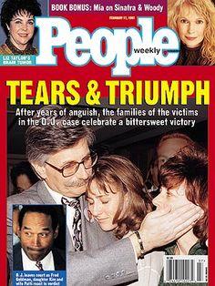 OJ Simpsons loses civil suit for wrongful death- Feb. Ronald Goldman, People Magazine, Life Magazine, Newspaper Cover, Cold Case, Ex Husbands, True Crime