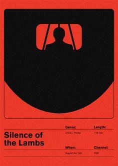 The Silence of the Lambs (1991) ~ Minimal Movie Poster by Maciej Zelaznowski