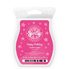 """Happy Birthday (Corner Cafe Collection) - A """"candy-licious"""" confection of sparkling sugar, fluffy whipped cream, and vanilla extract. ($5)"""