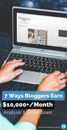 There are bloggers out there earning between $50k and $100k PER MONTH. While it's not always easy to earn good money blogging, there is a way! www.howtoliveinth...