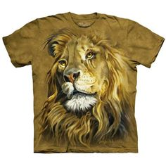 LION KING T-Shirt The Mountain African Big Animal Face Art Mens Sizes S-5XL NEW! #TheMountain #GraphicTee #lion #lionking #lionshirt
