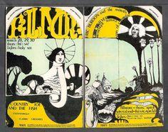 2 Original Country Joe and Eric Burdon Concert Postcards BG-113-114 Fillmore 1968 Vintage Bill Graham Music Psychedelic SanFrancisco Hippies