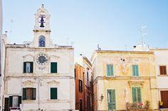old town square in polignano a mare puglia italy