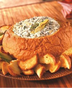 recipe: spinach dip in bread bowl with cream cheese [12]