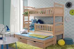 Patrová postel Ania pro 3 osoby 90 x 190 | nabytek-bogart.cz Happy Room, Boy Room, Bunk Beds, Toddler Bed, Rooms, Furniture, Home Decor, Bedroom, Child Bed
