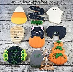 janisbakes:  Halloween Decorated Cookies for the GoBo Foundation Bake Sale www.gobobakesale.com