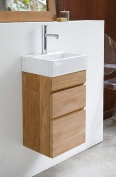 Available with or without a black or white basin. Small Bathroom Sinks, Bathroom Layout, Modern Bathroom Design, Bathroom Interior Design, Small Toilet Decor, Small Toilet Room, Lavabo Design, Washbasin Design, Lave Main Design
