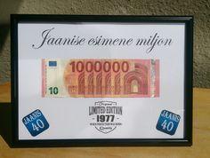 Miljon juubeliks / Money gift