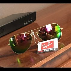 Ray-Ban aviator sunglasses Pink mirror reflection aviator sunglasses. New with tag. No case or box. Ray-Ban Accessories Sunglasses