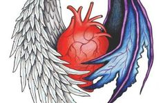 Angel And Demon Wing Tattoos