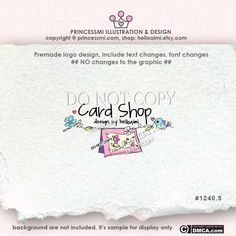 card logo design invitation shop logo design shop by helloaimi