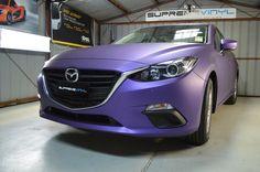 Mazda 3 Matte Metallic Purple Wrap
